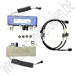 Antenne versterker, twee-kanaals, Origineel, Saab 9-5 Estate, bj 1999-2010, ond.nr. 400110995, 4711685, 4711693, 4711727, 11900451