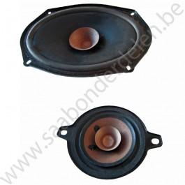 Radio luidspreker voorzijde, gebruikt, Saab 900NG, 9-3 versie 1, org.nr. 4712634, 4232740