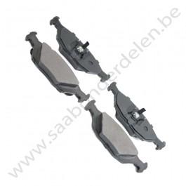 Achterremblokset, Origineel, Saab 900 Classic bj 1987-1993, Saab 9000 bj 1985-1998, ond.nr. 5055967, 4196317, 32017602