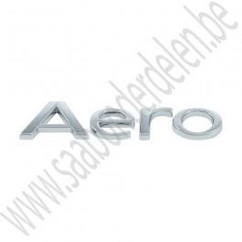 Aero embleem, zijscherm, Origineel, Saab 9-3 v1, 9-5, bj 2000-2003, ond.nr. 5142559