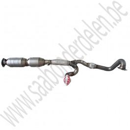 Nw. afterm. Saab 9-5 uitlaatvoorpijp en katalysator, V6, bj. '98-'03, art. nr. 4967006  5323001  4574638