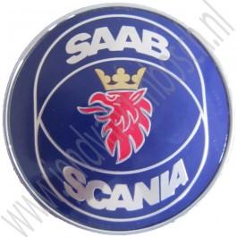 Achterklepembleem, Saab Scania, Saab 900 sedan, 900 cabrio bj 1986-1993, ond.nr. 6941272