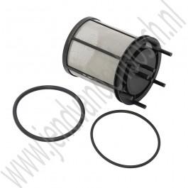 Org. filter incl. O-ringen afdichting voor olie van autom. transmissiebak Saab 9000 bj: '85 tm '98 art. nr7575525  art. nr7599525
