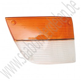 Glas, knipperlicht, wit oranje, rechts, Saab 900 Classic, bouwjaren 1979-1987, ond.nr. 8574782