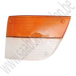 Glas, knipperlicht, wit oranje, links, Saab 900 Classic, bouwjaren 1979-1987, ond.nr. 8574774