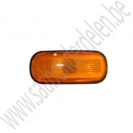 Zijknipperlamp, oranje, Saab 900 klassiek, 900 NG, 9000, 9-3 V1 en 9-5 bj: '83 tm '10 art. nr. 9124132