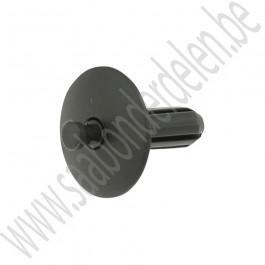Bevestigingsclip, deurpaneel, kofferbak bekleding, zwart, Origineel, Saab 900NG, 9-3v1, 9-3v2, ond.nr. 92152255
