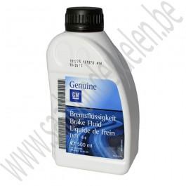 Rem vloeistof, 500 ml, Dot 4+, origineel GM, Saab 9-3 versie 2, 9-5 en 9-5ng, bj '06-'12, art.nr. 93160363, 93165409