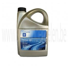 5 lt. motorolie GM Longlife 5W30, synthetisch, Saab 9000, 900 New Generation, 9-3V1, 9/3V2 en 9-5, art. nr. 93165557, 93165212, 93165211