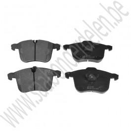 Voorremblokkenset, origineel, Saab 9-3 v2 ,16+ inch, 314mm, ond.nr. 12802167,  93166941, 93188113, 93190340, 32019595