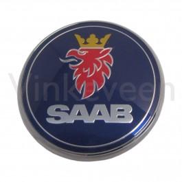 Nw. embleem achterklep Saab 9-3V2, bj. '04-'10, art. nr 12769689 4911541 12844160 12831661