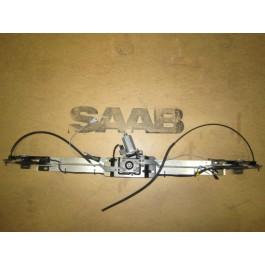 Motor met mechanisme, cabriokap 5e boog vergrendeling, gebruikt, Saab 900NG, 9-3v1, bj 1994-2003, ond.nr. 7497878, 4855235