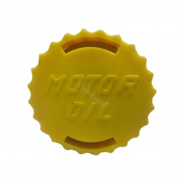 Oliepeilstokdeksel,  geel, 4-cilinder, benzine, Saab, ond.nr. 5557302, 9172305