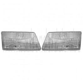 Saab 900 Klassiek zalmneus koplampglas, L en of R, bj. '87-'93, art. nr. L: 9556655, R: 9556663