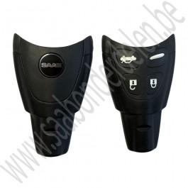 Sleutel afstandsbediening, origineel, NEVS type, Saab 9-3v2, bj 2003-2012, ond.nr. 12783781, 12767979,12764369 12801309 12758289