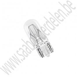 3 watt steeklampje, T10 fitting, Saab 900NG, 9-3v1, 9-5, ond.nr. 4777181