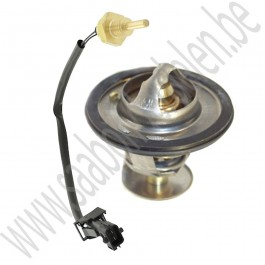 Thermostaat en 1/8ste sensor set, 89 graden, Origineel, Saab 9000, 900NG, bj 1996-1998, ond.nr. 30577561, 9182270