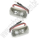 Zijknipperlampen, LED, Saab 900 klassiek, 900 NG, 9000, 9-3 V1 en 9-5 bj: '83 tm '10 art. nr wit: 5142807