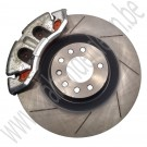 "Rem upgrade set, 17+"" Big Brake Kit, dubbele zuigers, gegroefde schijven, EBC Redstuff, J&D Engineering, Saab 9-5, 9-3 v2, 2002-2012"