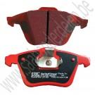 Voorremblokkenset, EBC Redstuff, Saab 9-3v2 ,17+ inch, 345 mm, ond.nr. 93195754, 32019596