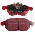 Voorremblokset, EBC Red Stuff, 15 inch, 285mm, 16 inch, 302mm, Saab 9-3v2, bj 2003-2010, org.nr. DP31414C, 12803551, 93188112, 12765397, 12800120, 93166943, 93185751, 93188111, 93176121, 32019593