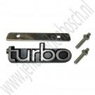 Turbo embleem grille, Saab 900 Classic 1979-1993, ond.nr. 6926786