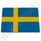 Muismat Zweedse vlag 24x19 cm